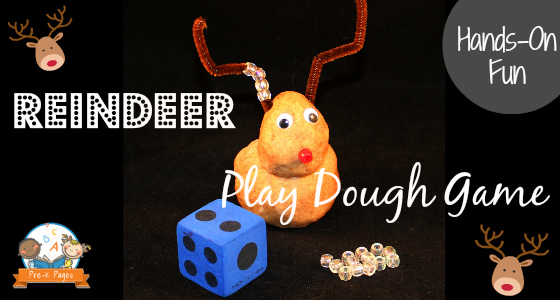Reindeer Playdough Game