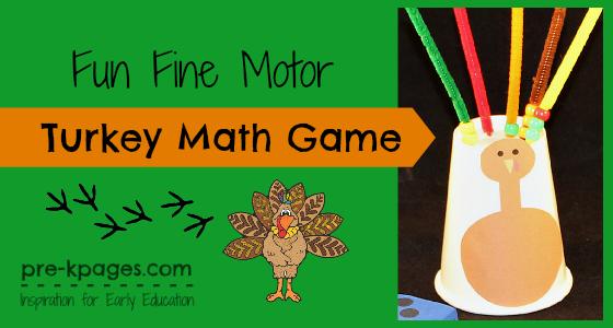 Fine Motor Turkey Math Game