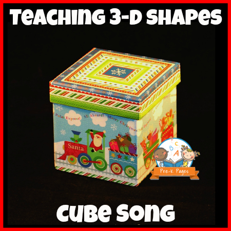 Simple Cube Song for Teaching 3-D Shapes in Preschool and Kindergarten