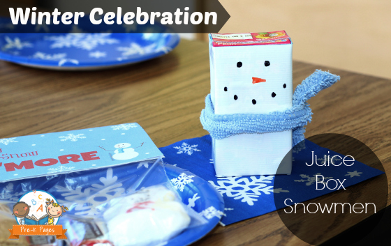 Juice Box Snowmen