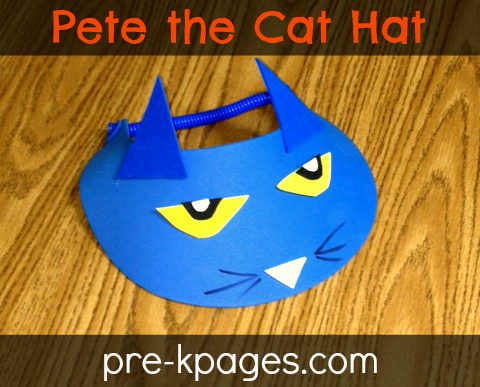 Pete the Cat Rhyming Hat Activity