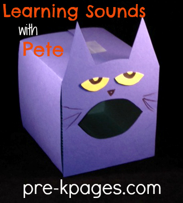 Learning Letter Sounds with Pete the Cat in #preschool and #kindergarten