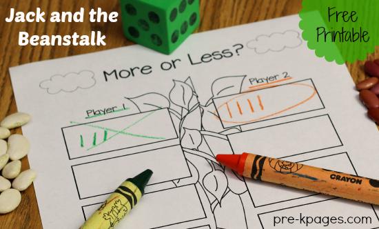 More or Less Printable Math Activity #preschool #kindergarten