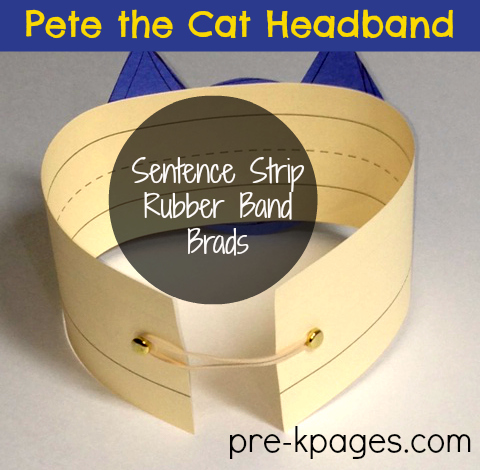 Easy Pete the Cat Headband for Story Problem Activity