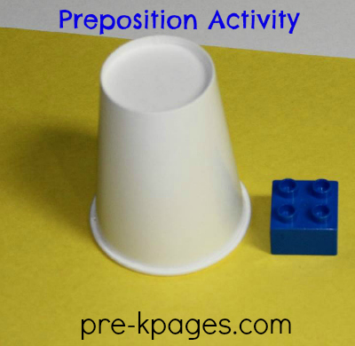 Teaching Prepositions Activity in #preschool and #kindergarten