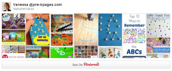 Alphabet pinterest board