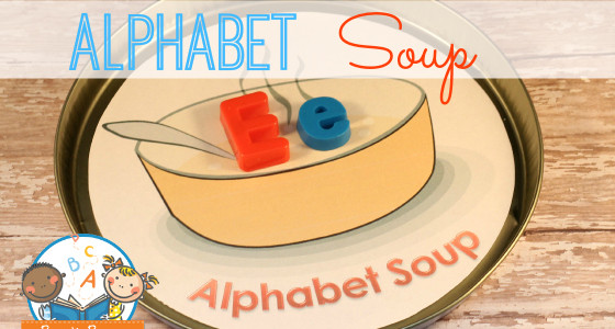 Magnetic Letter Alphabet Soup Activity