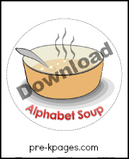 Free Printable Alphabet Soup Letter Activity