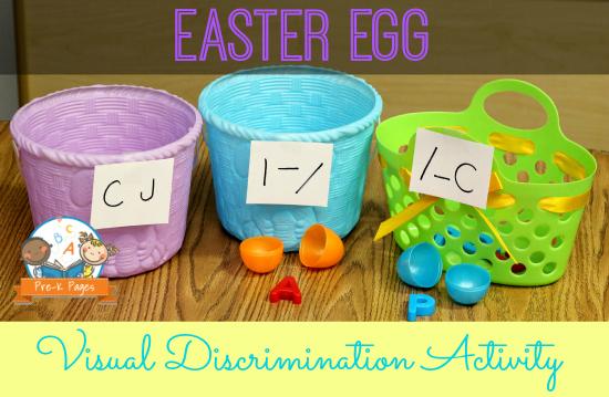 Plastic Easter Egg Alphabet Letter Sorting Activity #preschool
