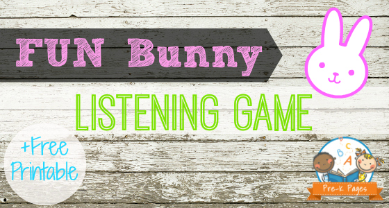 Bunny Listening Easter Game