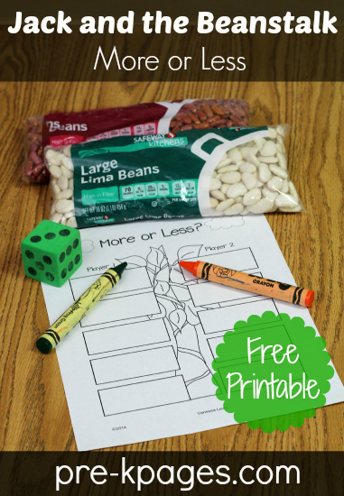 Free Jack and the Beanstalk Printable for #preschool #kindergarten