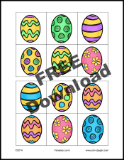Free Printable Easter Egg Visual Discrimination Activity for #preschool and #kindergarten
