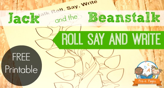 Jack and the Beanstalk Roll Say and Write