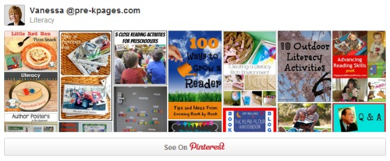 Literacy Pinterest Board