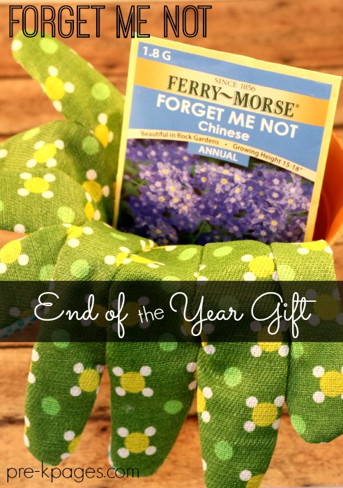 Printable End of Year Gift Seed Packets