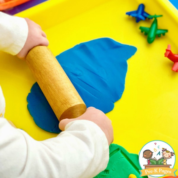 Rolling Pins in the Play Dough Center