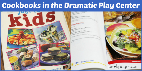 Cookbooks in the Dramatic Play Center