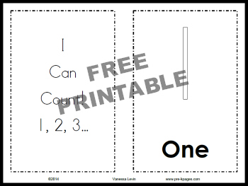 Printable I Can Count Book
