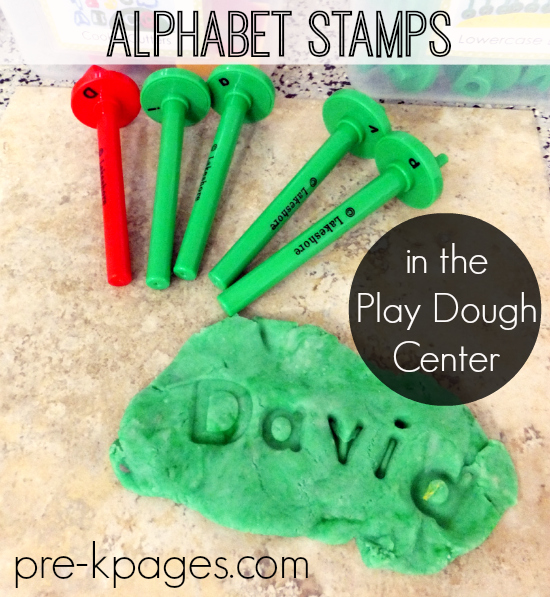Learning Letters with Play Dough
