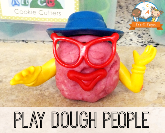 Making People in the Play Dough Center