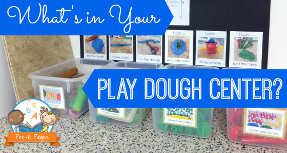 Play Dough Center Set Up