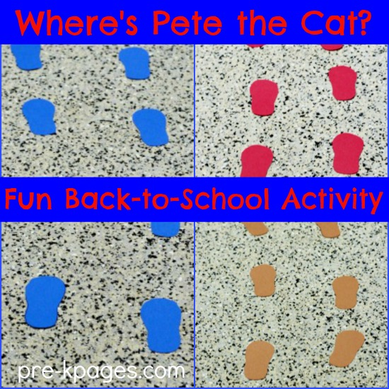 Pete the Cat Beginning of the Year Hunt