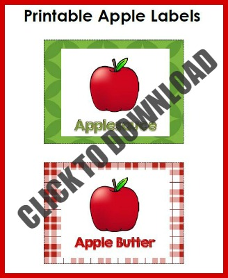 Free Printable Apple Labels for Pretend Play