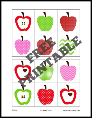 Printable Apple Visual Discrimination Activity for Preschool and Kindergarten
