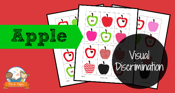 Apple Printable Visual Discrimination Activity