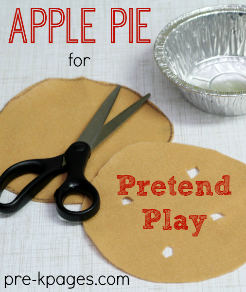Felt Apple Pie for Pretend Play