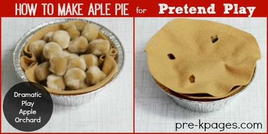 How to Make Felt Apple Pie for Play