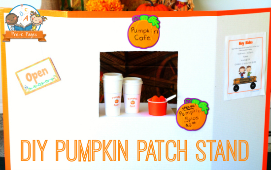 DIY Pumpkin Patch Stand for Pretend Play