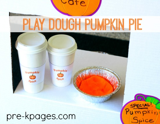 Play Dough Pumpkin Pie for Pretend Play