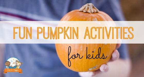 14 Pumpkin Activities for Preschool