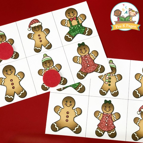 Gingerbread Matching Activity