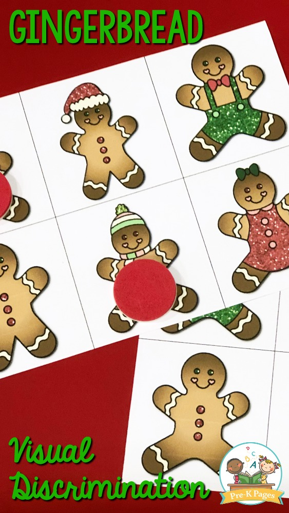 Printable Gingerbread Matching Activity