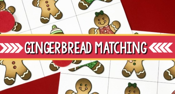 Printable Gingerbread Matching Game