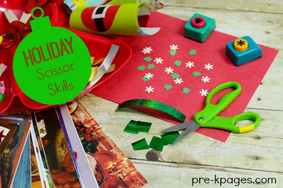 Christmas Fine Motor Skill Development with Paper Punches