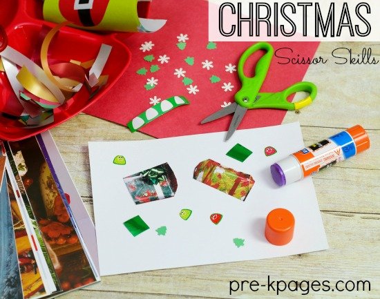 Christmas Scissor Skills for Preschool