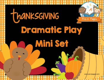 Dramatic Play Thanksgiving Feast Printable Mini Kit
