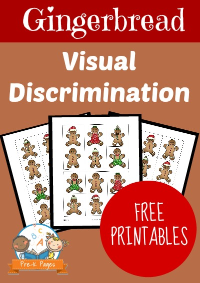 Gingerbread Visual Discrimination Activity for Preschool and Kindergarten