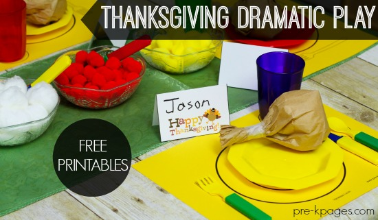 Pretend Play Thanksgiving Printables