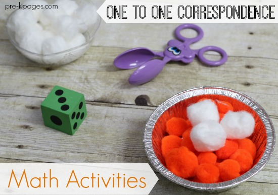One to One Correspondence Pumpkin Pie Counting Activity