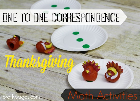 One to One Correspondence Thanksgiving Math Activities for Preschool and Kindergarten