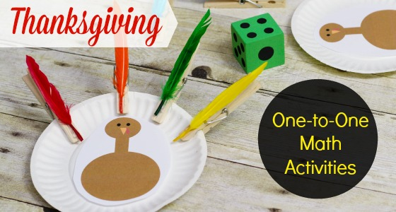One to One Correspondence Activities for Thanksgiving in Preschool and Kindergarten
