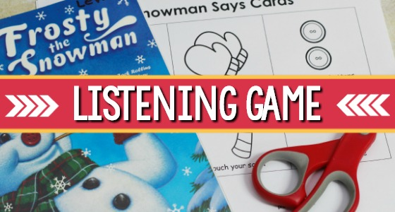 Snowman Listening Game for Preschool