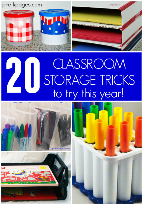 20 Classroom Storage Tricks for Preschool and Kindergarten