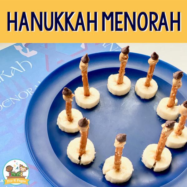 hanukkah menorah snack