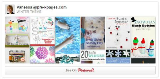 Pre-K Pages Winter Theme Pinterest Board