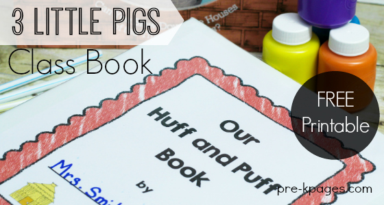 The Three Little Pigs Printable Class Book Activity